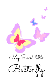 plakat motyl fioletowy