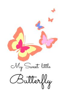 plakat motyl pomarańczowy