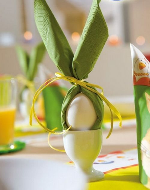 dekoracje -wielkanocne- na- stół