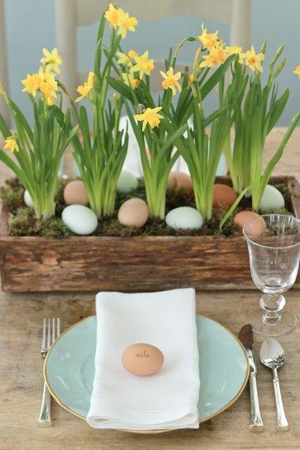 dekoracje-na-wielkanocny-stół