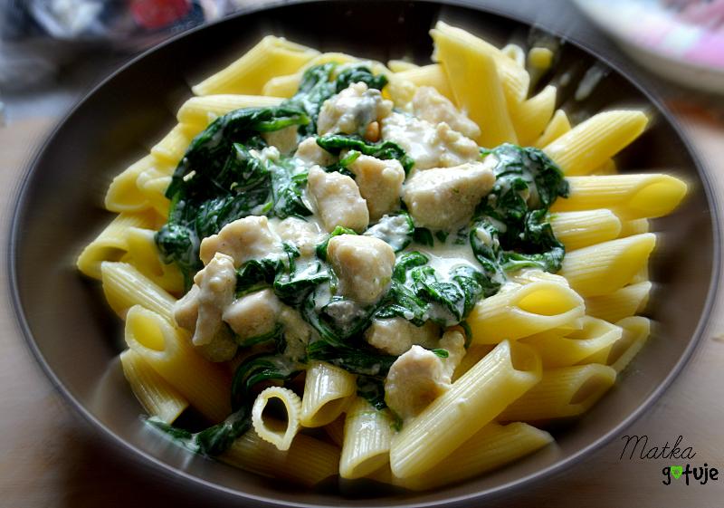 makaron-szpinak-gorgonzola