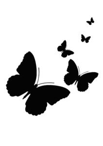 DIY-motyl-na plakat-i-materiał